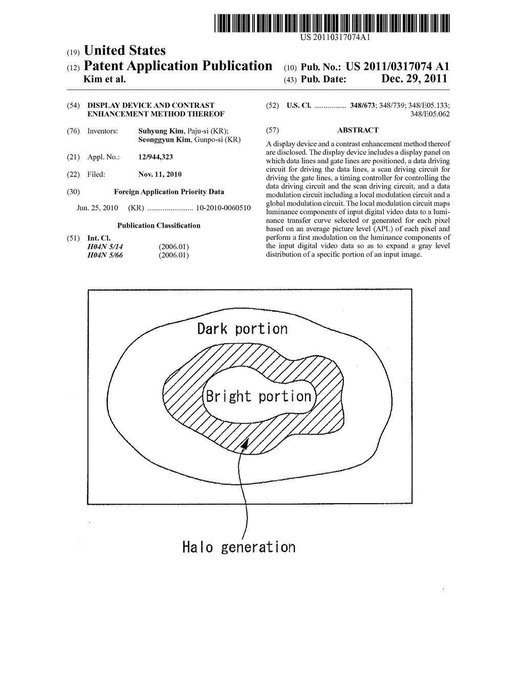 DISPLAY DEVICE AND CONTRAST ENHANCEMENT METHOD THEREOF - diagram, schematic, and image 01