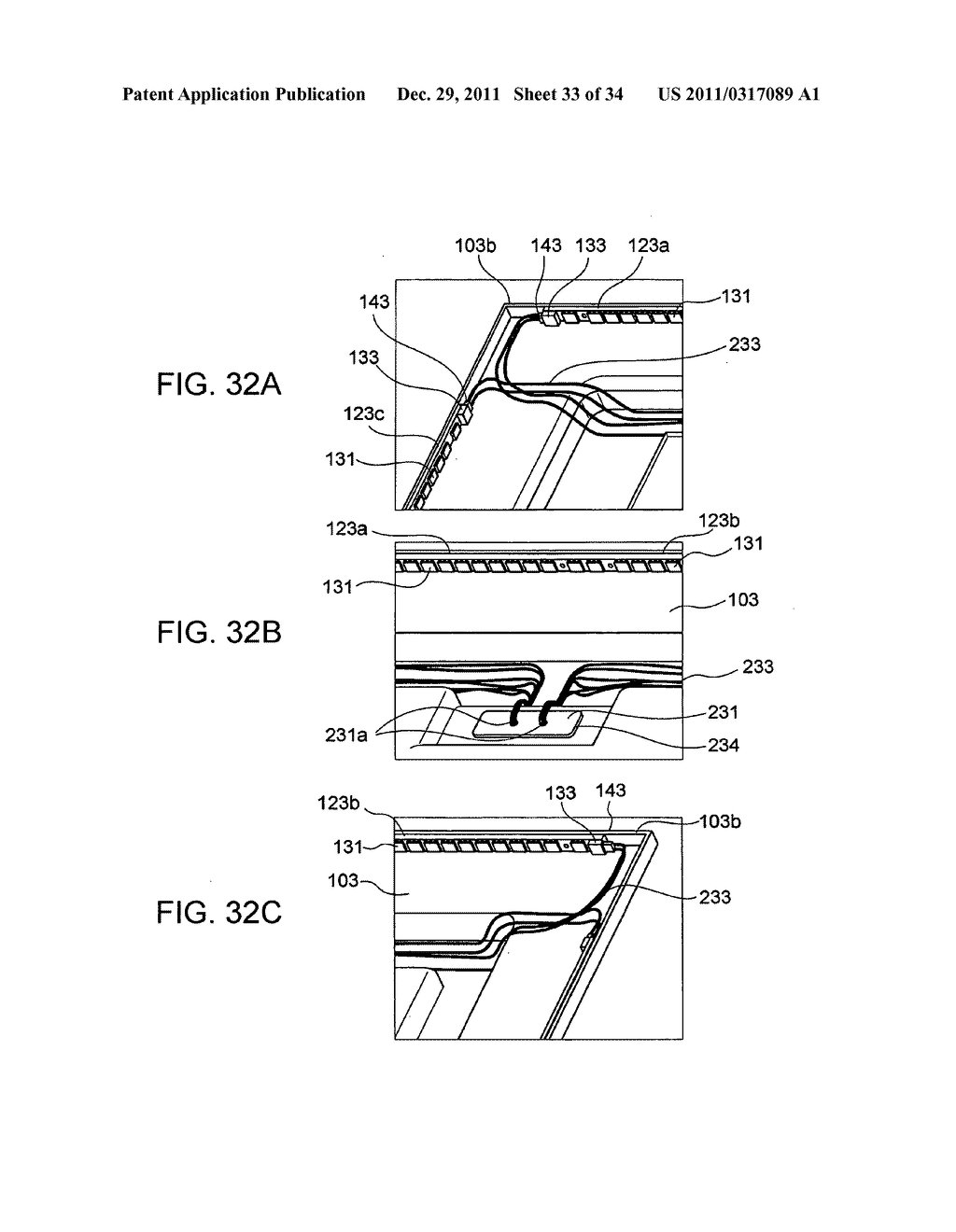 Backlight assembly for supplying electric power to a light-emitting     element via a connector and a backlight unit and a liquid crystal display     which use the backlight assembly - diagram, schematic, and image 34