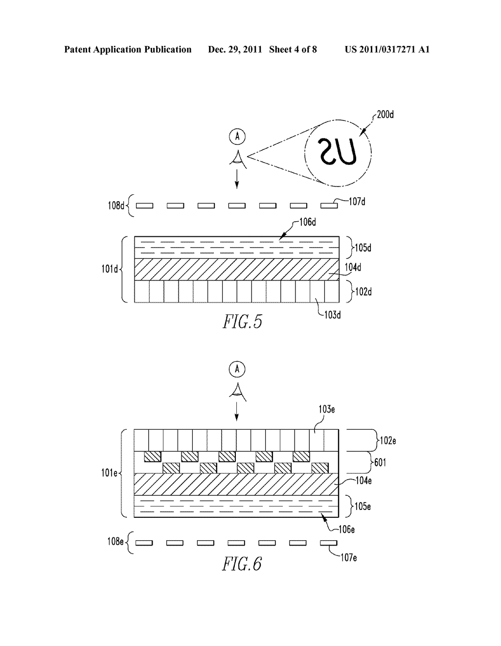 OPTICALLY VARIABLE DEVICES, SECURITY DEVICE AND ARTICLE EMPLOYING SAME,     AND ASSOCIATED METHOD OF CREATING SAME - diagram, schematic, and image 05