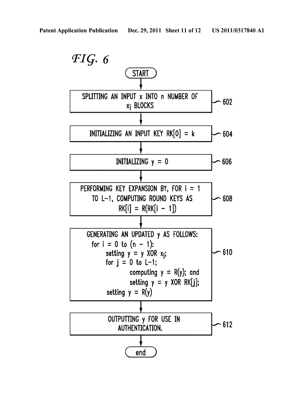 SYSTEM AND METHOD OF PERFORMING AUTHENTICATION - diagram, schematic, and image 12