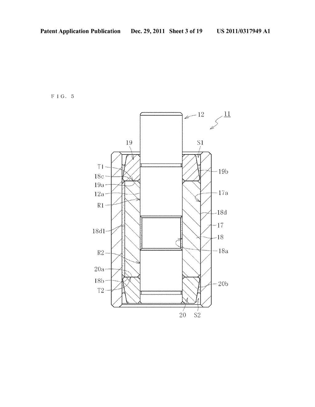 SINTERED METALLIC BEARING AND FLUID DYNAMIC BEARING DEVICE EQUIPPED WITH     THE BEARING - diagram, schematic, and image 04