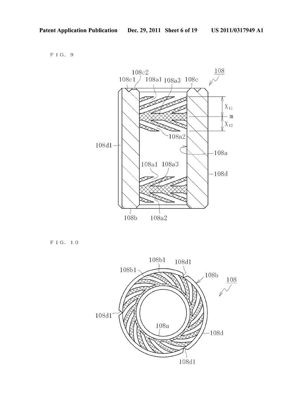 SINTERED METALLIC BEARING AND FLUID DYNAMIC BEARING DEVICE EQUIPPED WITH     THE BEARING - diagram, schematic, and image 07