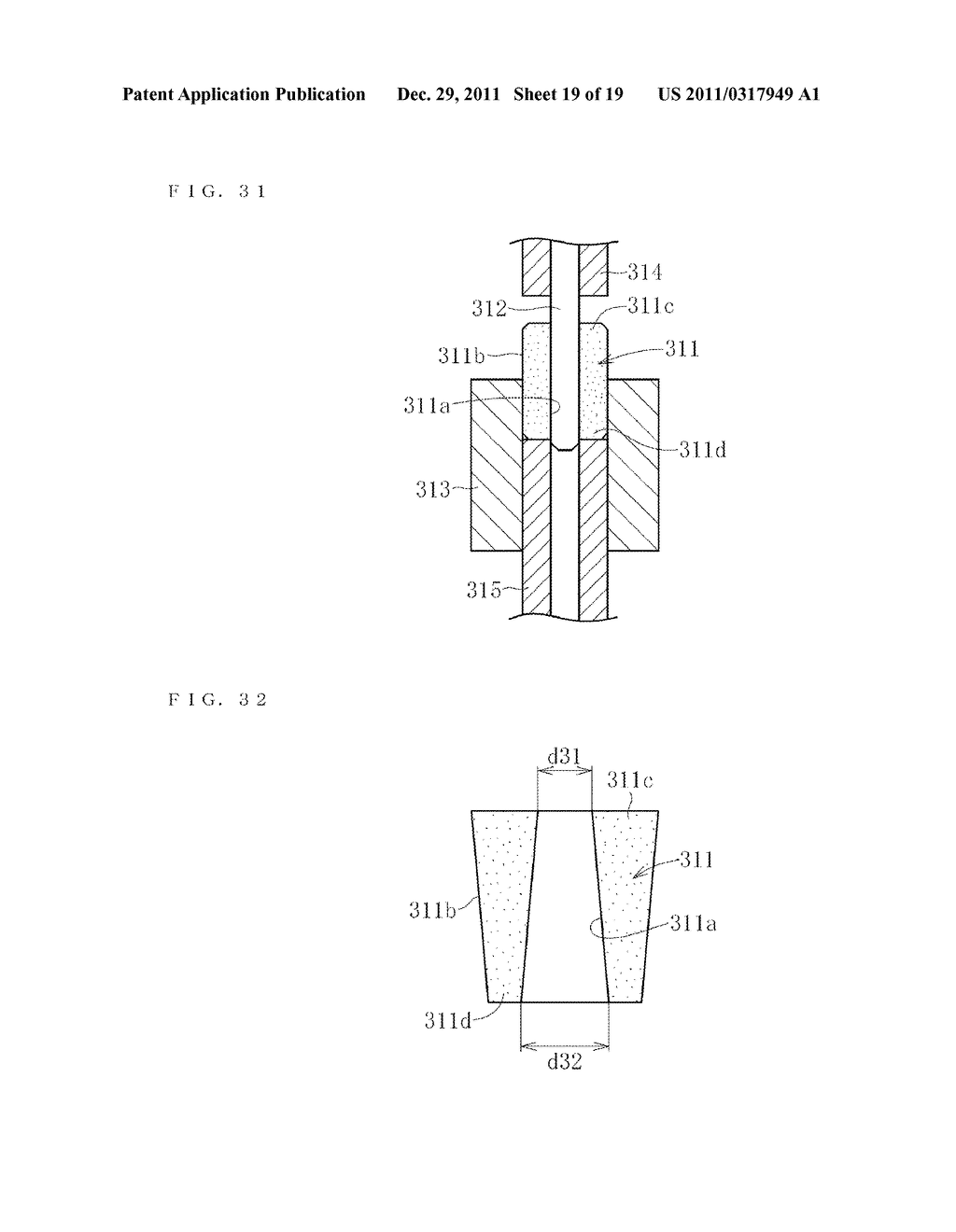 SINTERED METALLIC BEARING AND FLUID DYNAMIC BEARING DEVICE EQUIPPED WITH     THE BEARING - diagram, schematic, and image 20