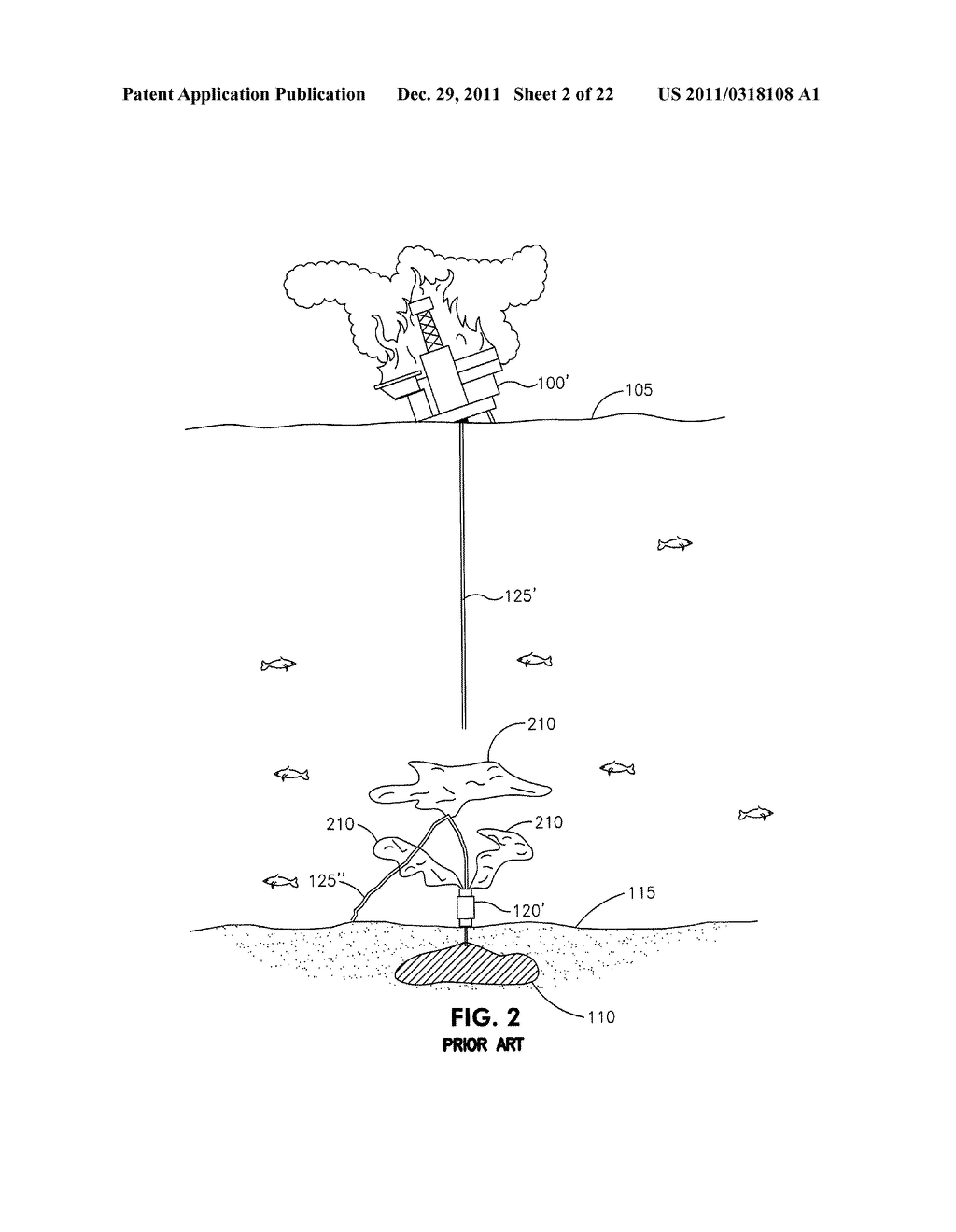 METHOD AND APPARATUS FOR CONTAINING AN OIL SPILL CAUSED BY A SUBSEA     BLOWOUT - diagram, schematic, and image 03