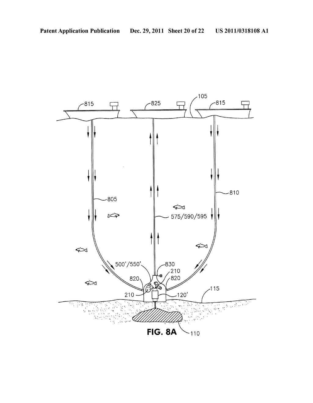 METHOD AND APPARATUS FOR CONTAINING AN OIL SPILL CAUSED BY A SUBSEA     BLOWOUT - diagram, schematic, and image 21