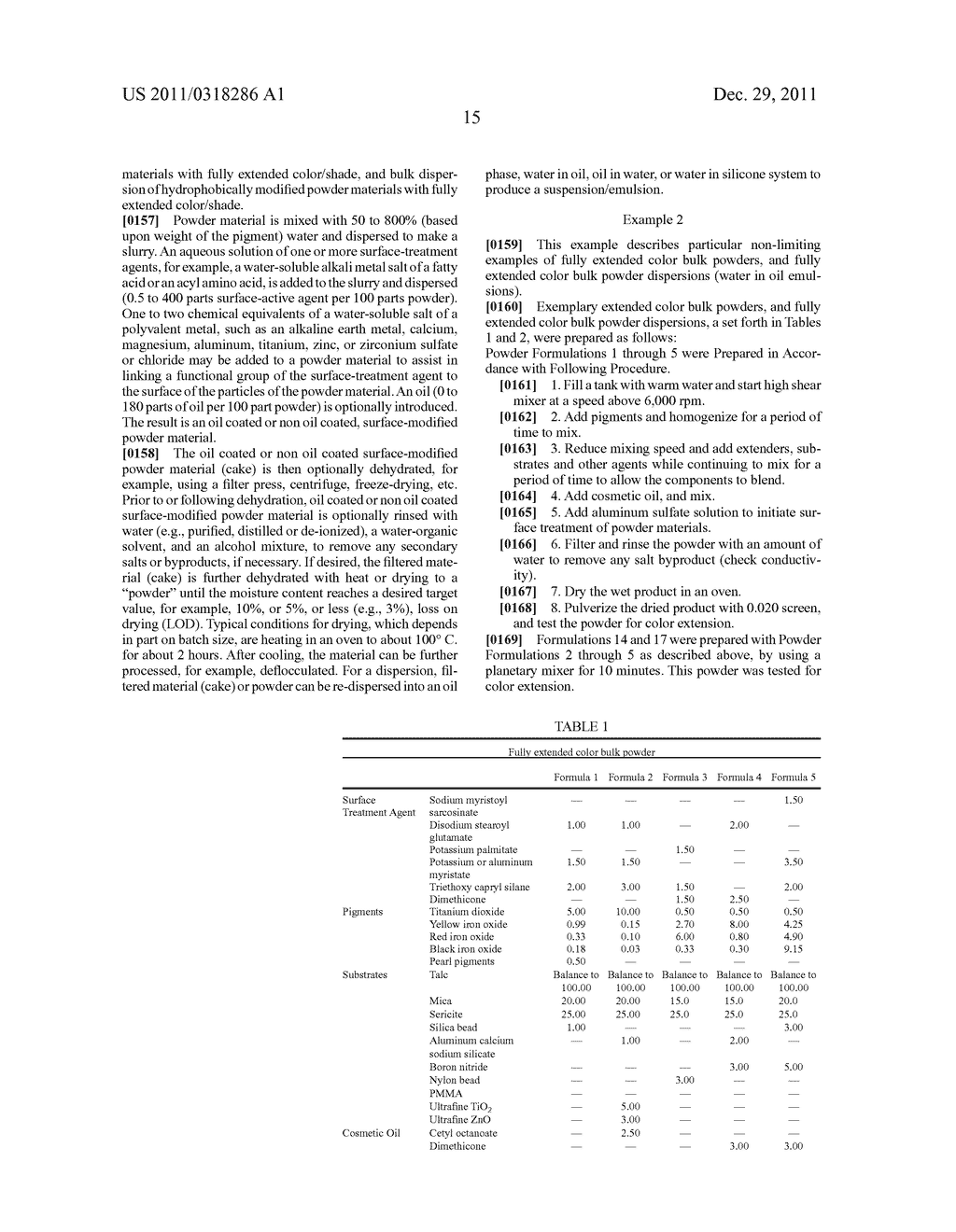 SPF ENHANCED EXTENDED COLOR BULK POWDERS AND METHODS OF MAKING THEREOF - diagram, schematic, and image 27