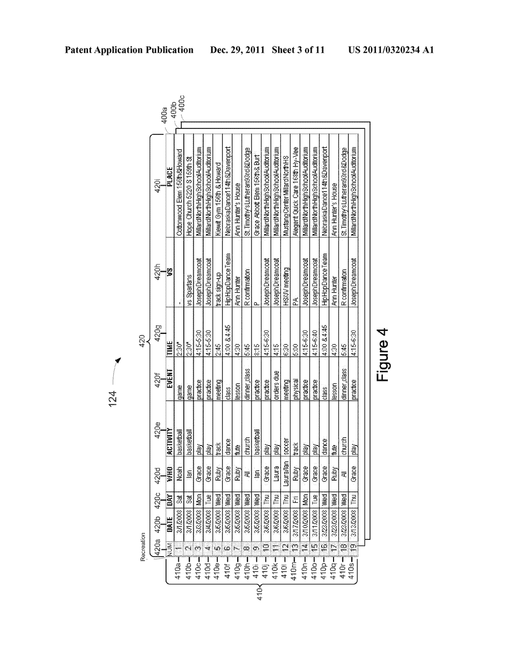 System, Method, and Computer Readable Medium for Management of an     Electronic Calendar - diagram, schematic, and image 04