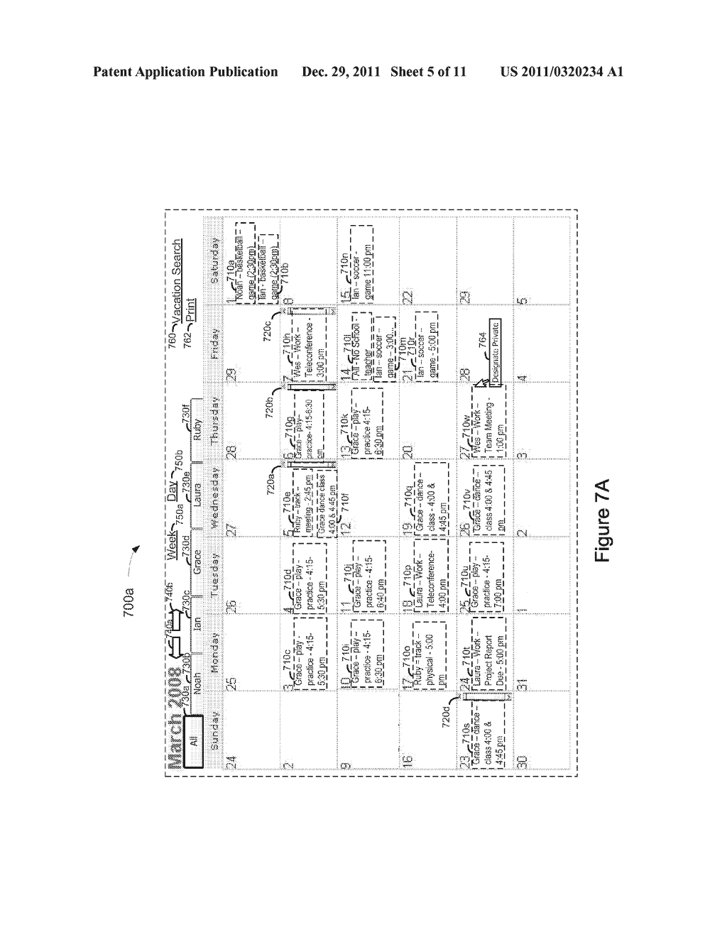 System, Method, and Computer Readable Medium for Management of an     Electronic Calendar - diagram, schematic, and image 06