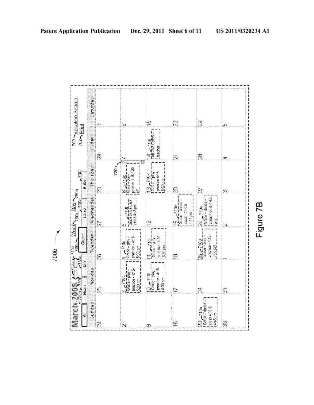 System, Method, and Computer Readable Medium for Management of an     Electronic Calendar - diagram, schematic, and image 07