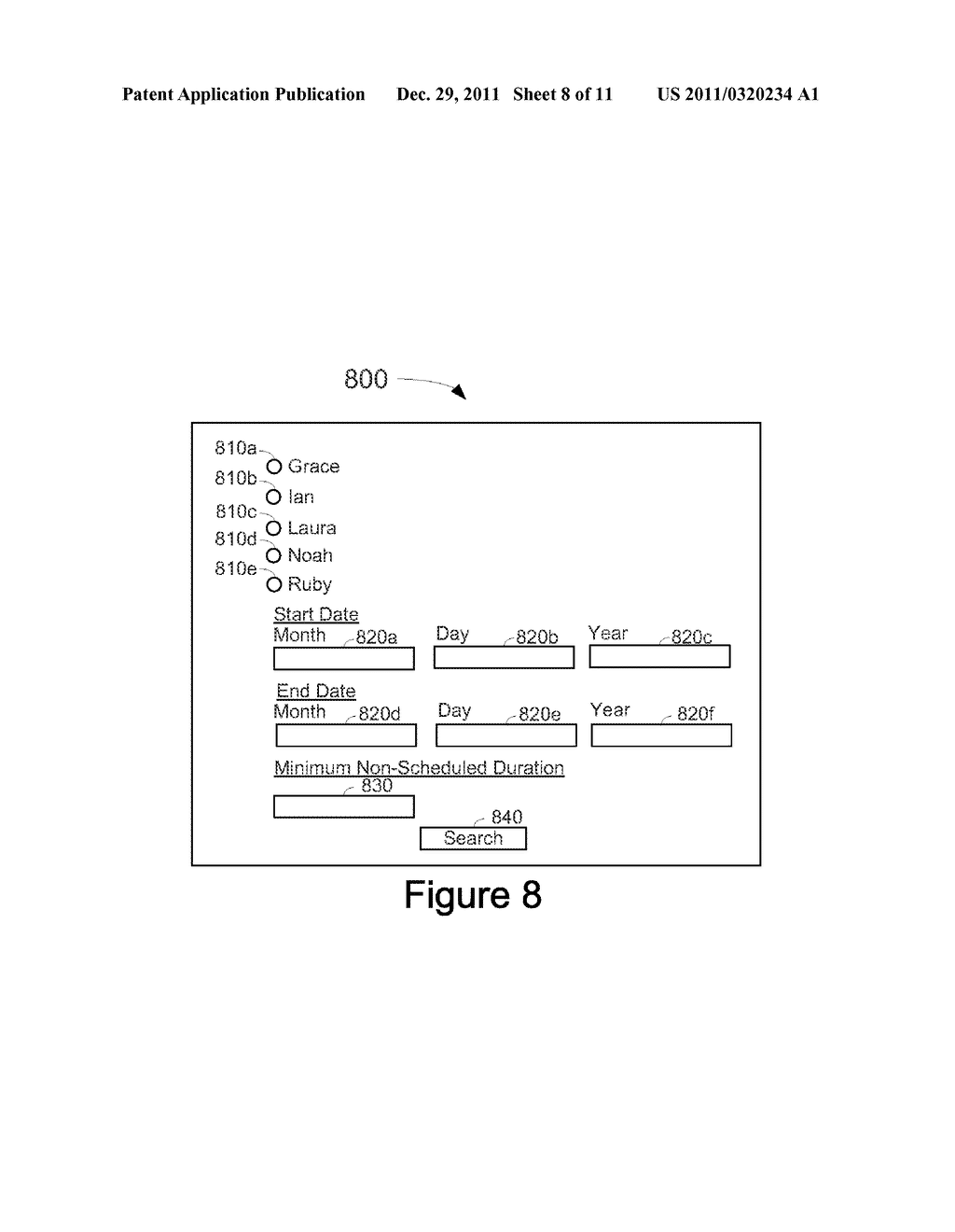 System, Method, and Computer Readable Medium for Management of an     Electronic Calendar - diagram, schematic, and image 09