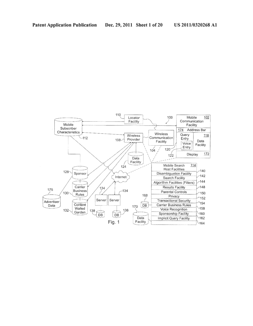 SYSTEM FOR TARGETING ADVERTISING CONTENT TO A PLURALITY OF MOBILE     COMMUNICATION FACILITIES - diagram, schematic, and image 02
