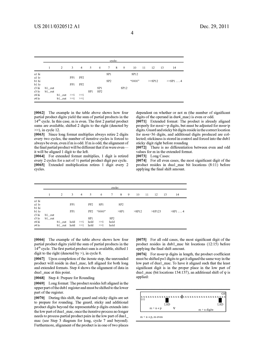 Decimal Floating Point Mechanism and Process of Multiplication without     Resultant Leading Zero Detection - diagram, schematic, and image 07