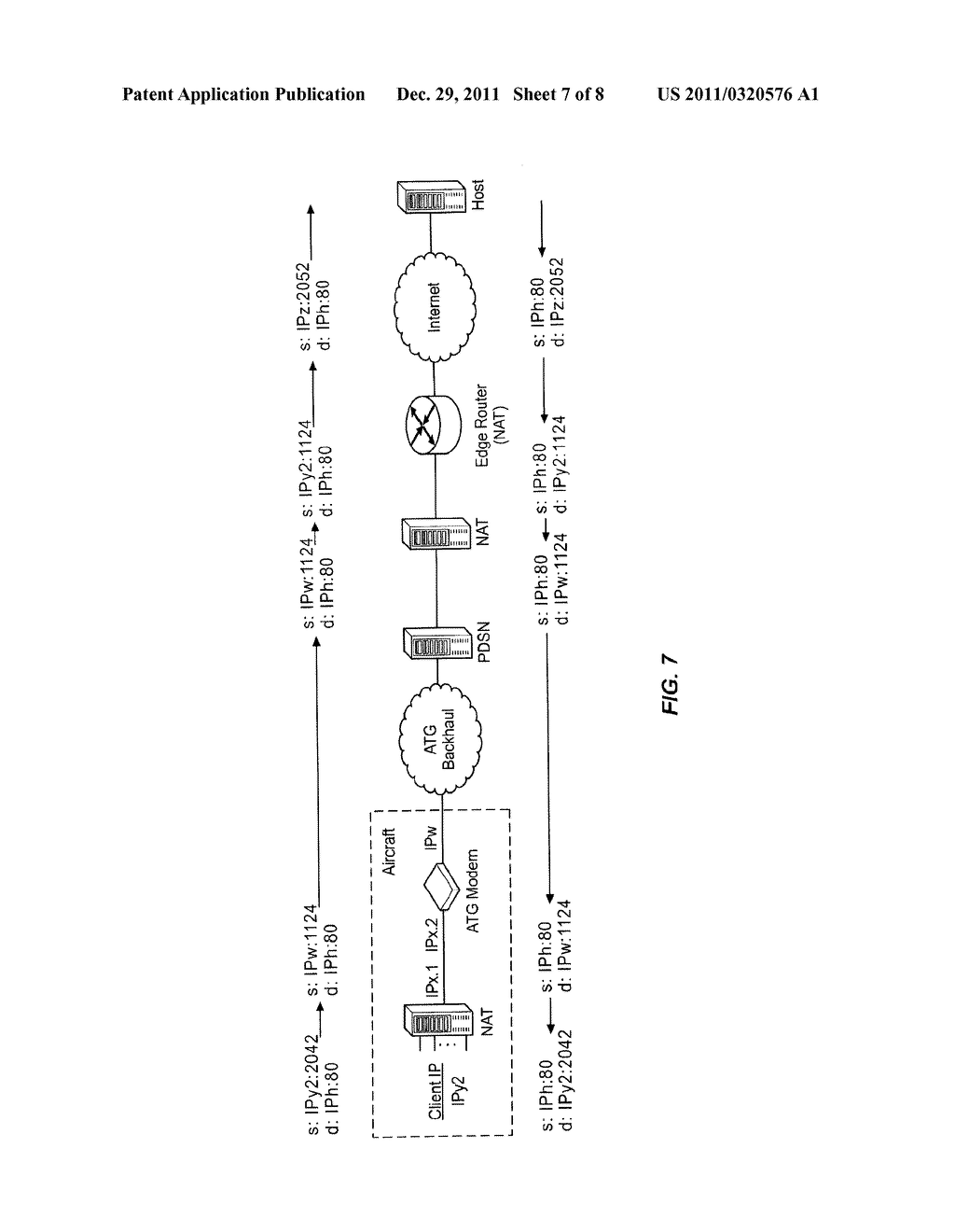 SYSTEM FOR CREATING AN AIR-TO-GROUND IP TUNNEL IN AN AIRBORNE WIRELESS     CELLULAR NETWORK TO DIFFERENTIATE INDIVIDUAL PASSENGERS - diagram, schematic, and image 08
