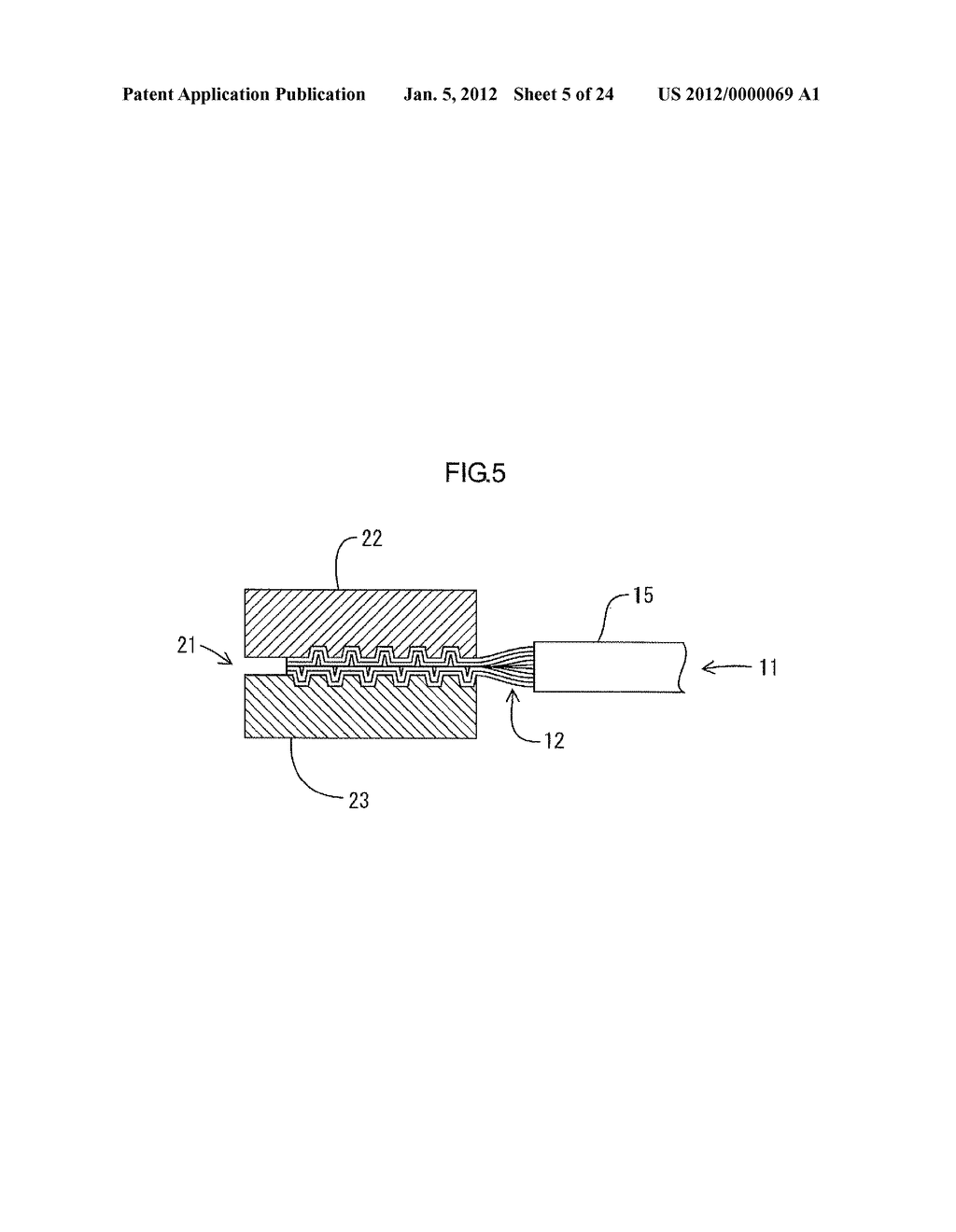 METHOD FOR MANUFACTURING ELECTRIC WIRE WITH TERMINAL - diagram, schematic, and image 06