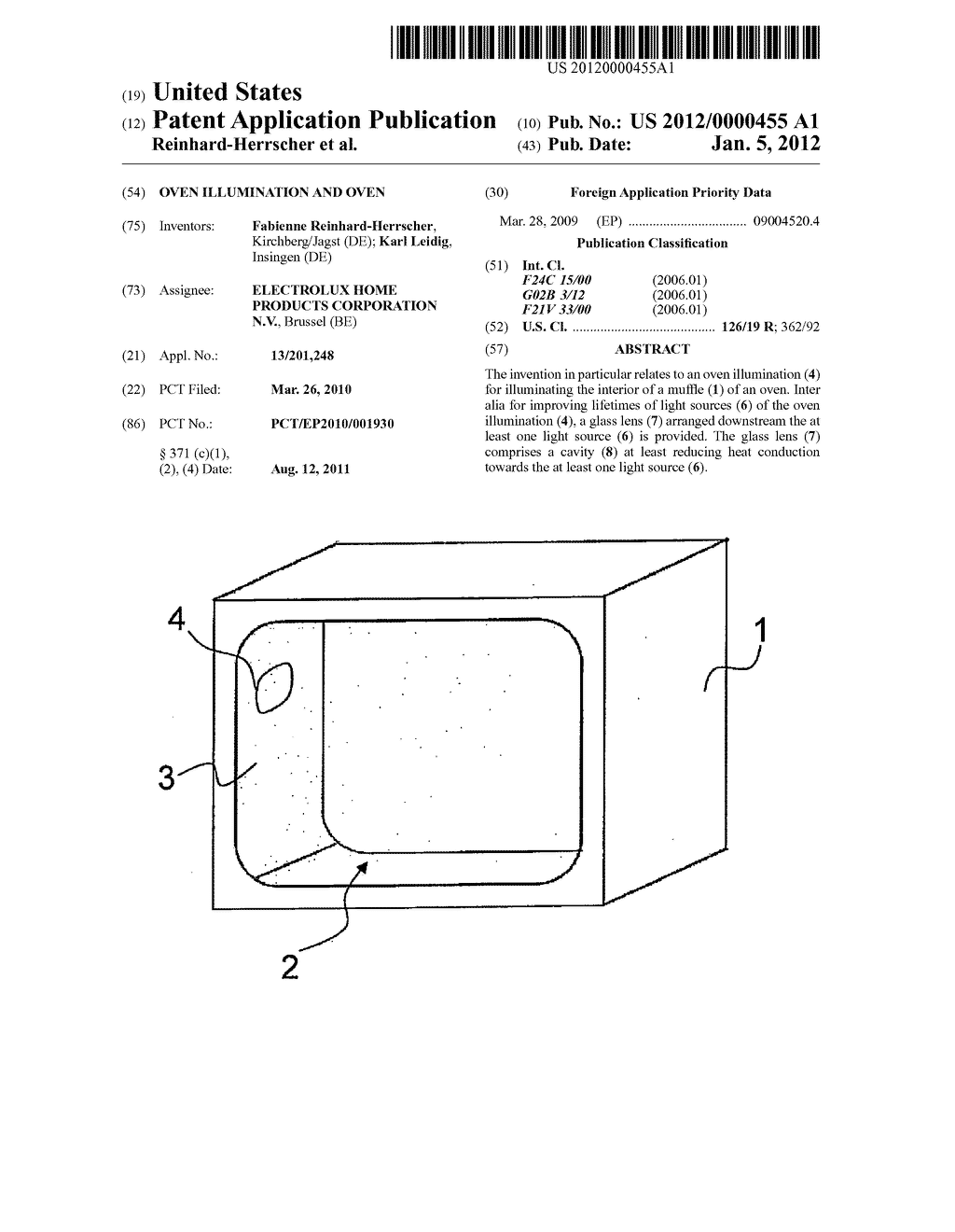 OVEN ILLUMINATION AND OVEN - diagram, schematic, and image 01