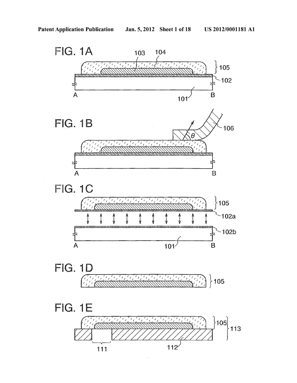 LAYER HAVING FUNCTIONALITY, METHOD FOR FORMING FLEXIBLE SUBSTRATE HAVING     THE SAME, AND METHOD FOR MANUFACTURING SEMICONDUCTOR DEVICE - diagram, schematic, and image 02