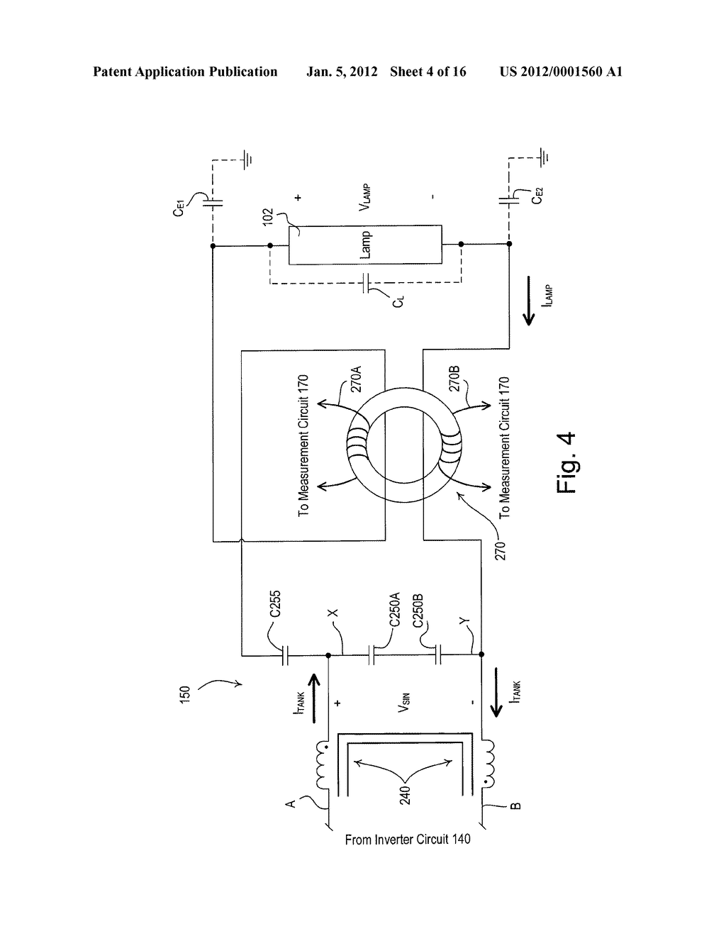 Circuit Diagram Inverter Electronic Ballast Having A Partially Self Oscillating Schematic And Image 05