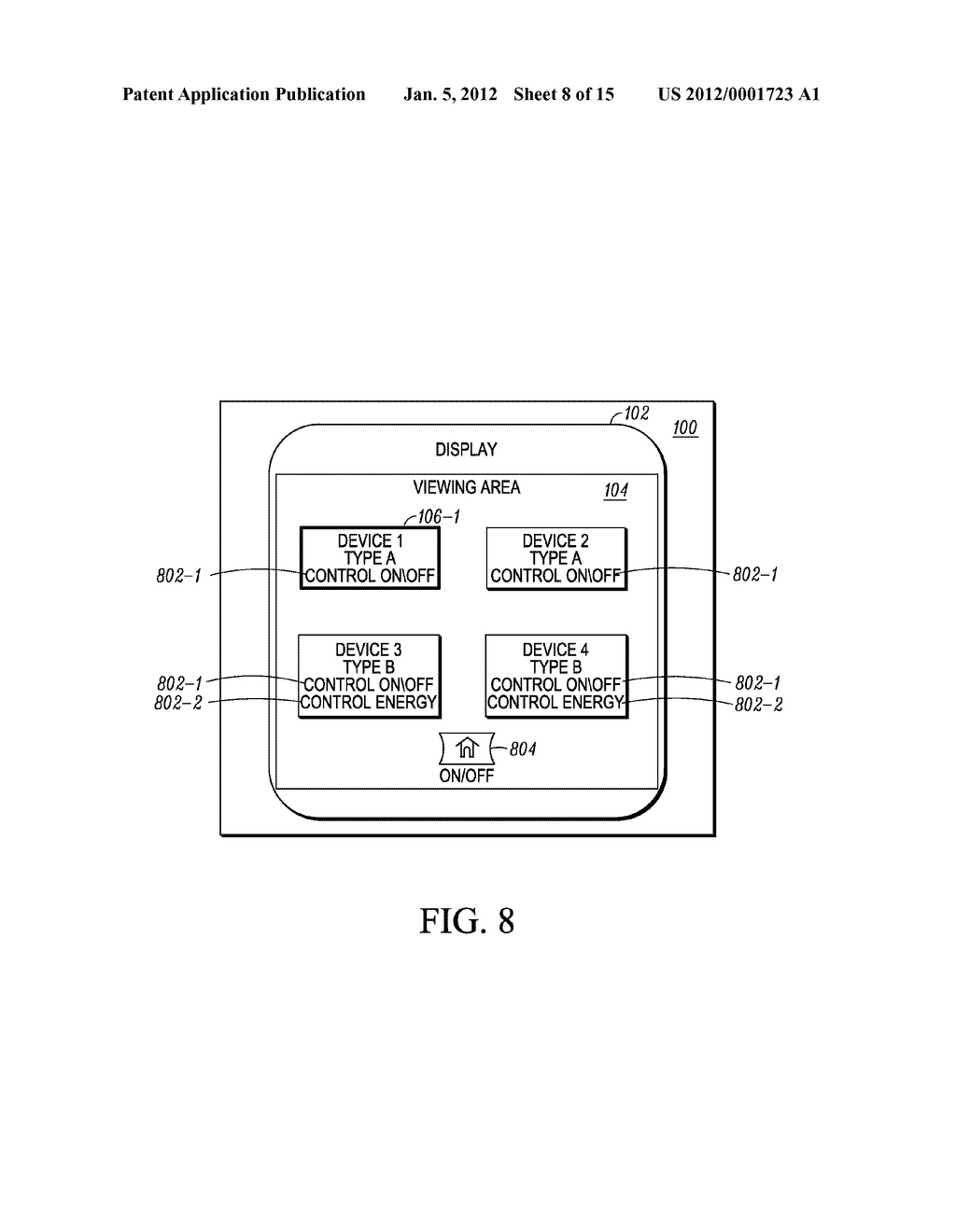 Display of Devices on an Interface based on a Contextual Event - diagram, schematic, and image 09