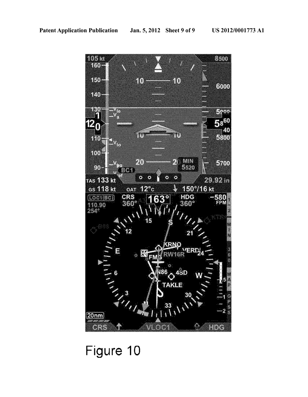AVIONICS DEVICE, SYSTEMS AND METHODS OF DISPLAY - diagram, schematic, and image 10