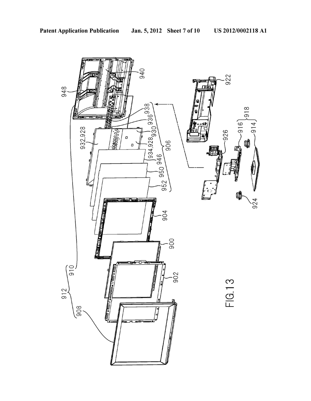 LIQUID CRYSATL DISPLAY DEVICE AND TELEVISION SET - diagram, schematic, and image 08