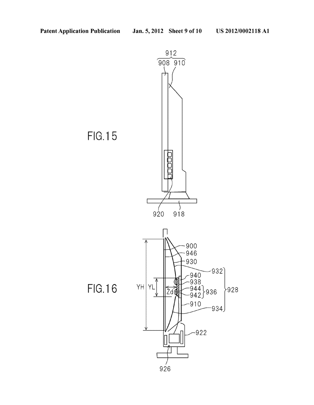 LIQUID CRYSATL DISPLAY DEVICE AND TELEVISION SET - diagram, schematic, and image 10