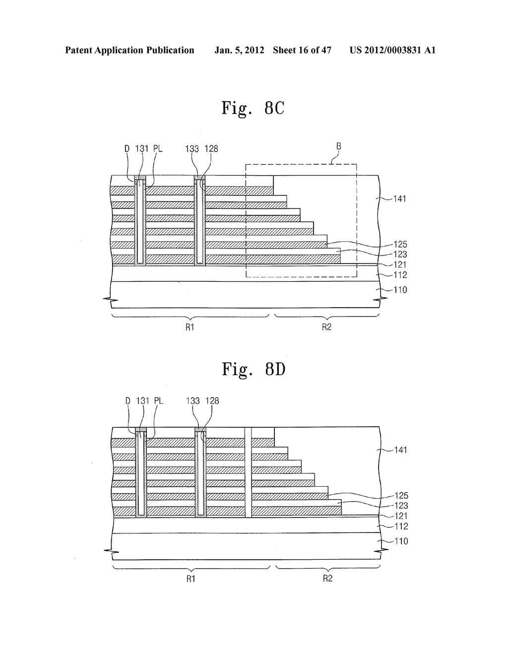 Methods of Forming Nonvolatile Memory Devices Using Nonselective and     Selective Etching Techniques to Define Vertically Stacked Word Lines - diagram, schematic, and image 17
