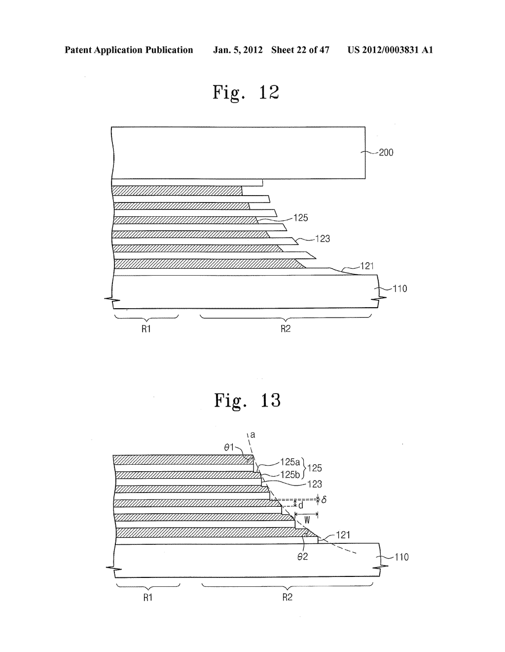 Methods of Forming Nonvolatile Memory Devices Using Nonselective and     Selective Etching Techniques to Define Vertically Stacked Word Lines - diagram, schematic, and image 23