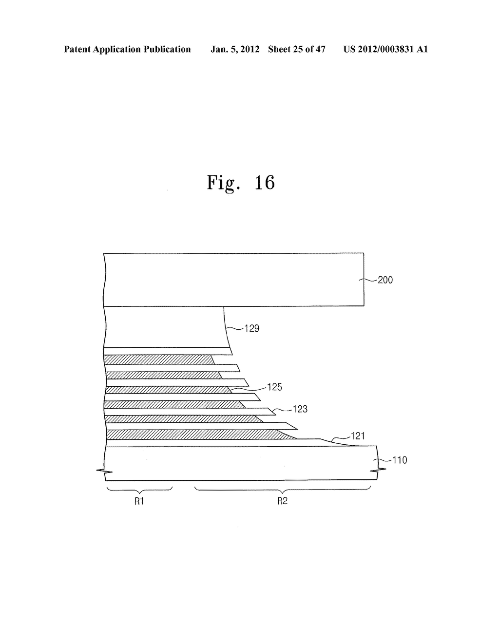 Methods of Forming Nonvolatile Memory Devices Using Nonselective and     Selective Etching Techniques to Define Vertically Stacked Word Lines - diagram, schematic, and image 26