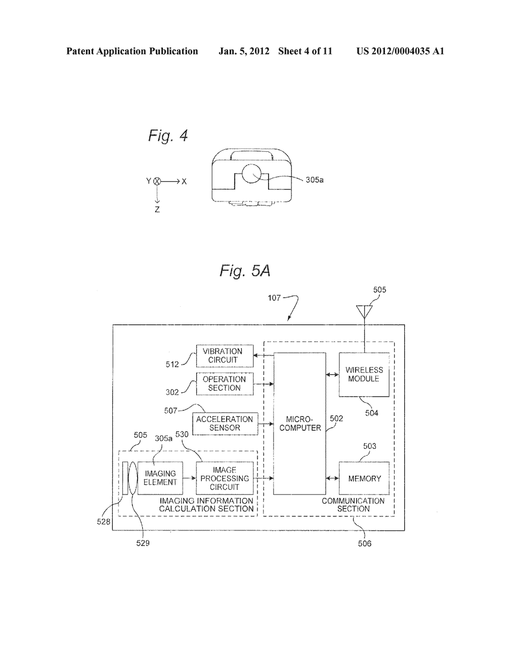 SYSTEM AND METHOD FOR USING ACCELEROMETER OUTPUTS TO CONTROL AN OBJECT     ROTATING ON A DISPLAY - diagram, schematic, and image 05