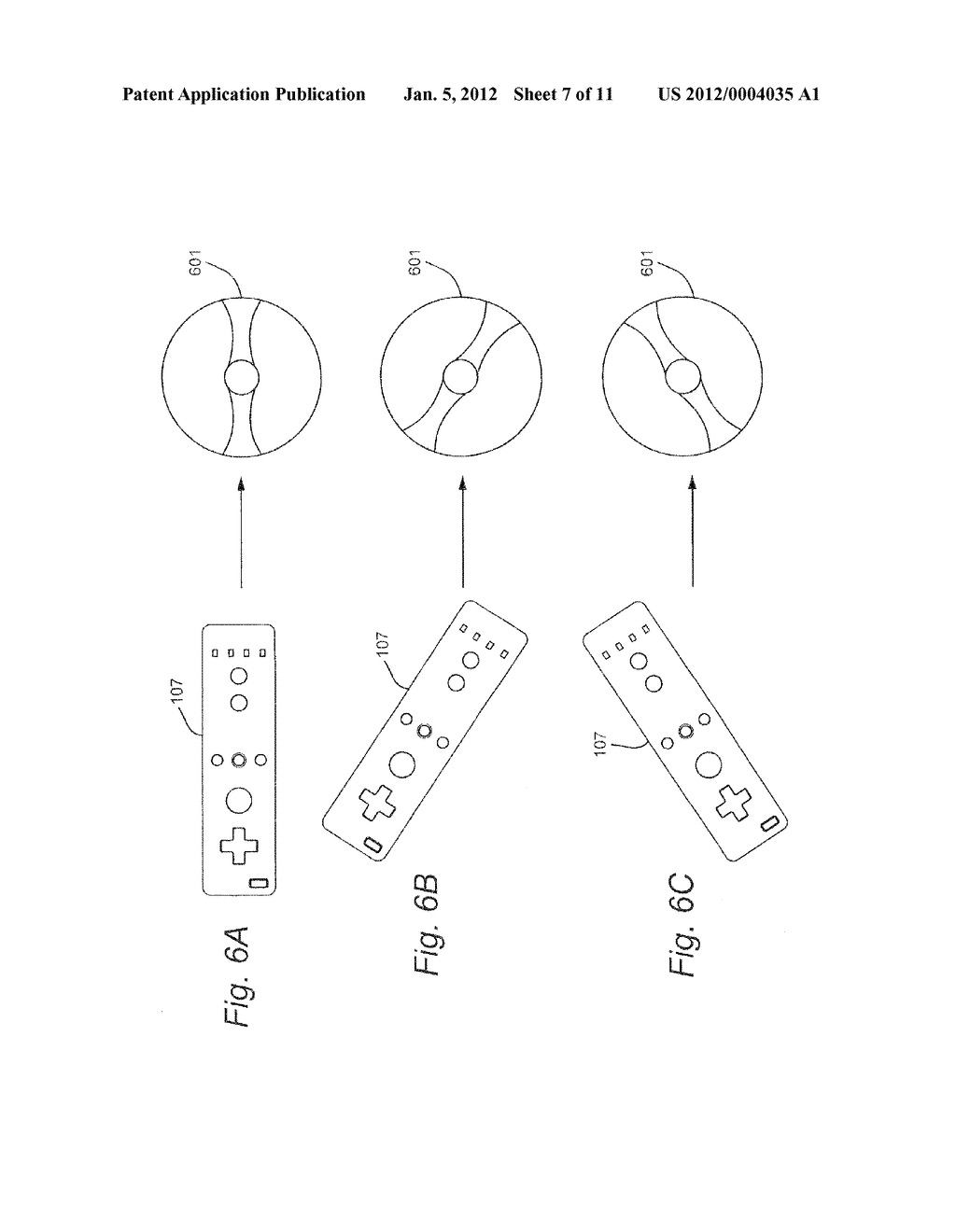 SYSTEM AND METHOD FOR USING ACCELEROMETER OUTPUTS TO CONTROL AN OBJECT     ROTATING ON A DISPLAY - diagram, schematic, and image 08