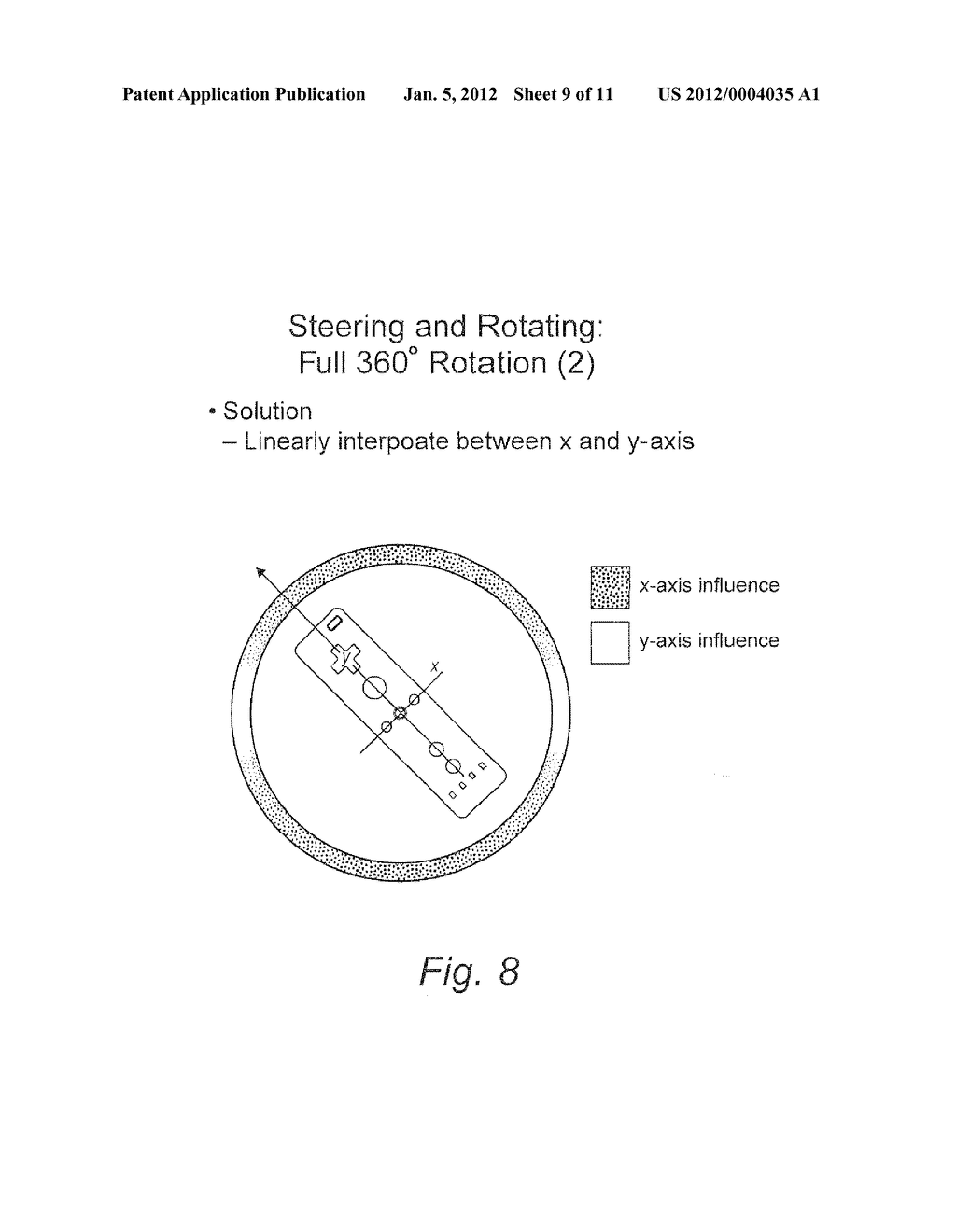 SYSTEM AND METHOD FOR USING ACCELEROMETER OUTPUTS TO CONTROL AN OBJECT     ROTATING ON A DISPLAY - diagram, schematic, and image 10