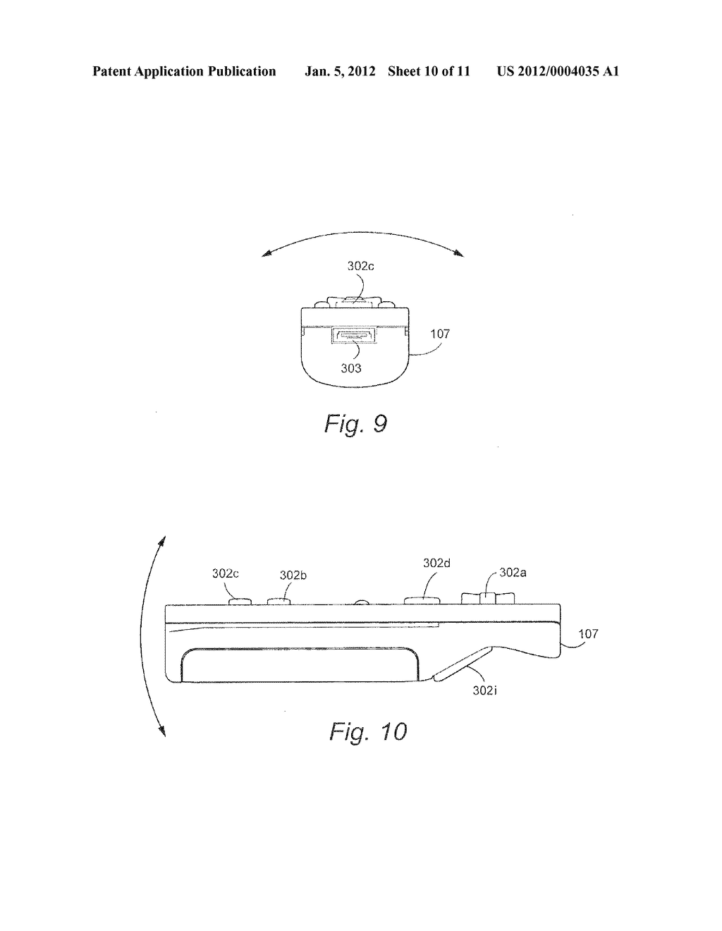 SYSTEM AND METHOD FOR USING ACCELEROMETER OUTPUTS TO CONTROL AN OBJECT     ROTATING ON A DISPLAY - diagram, schematic, and image 11