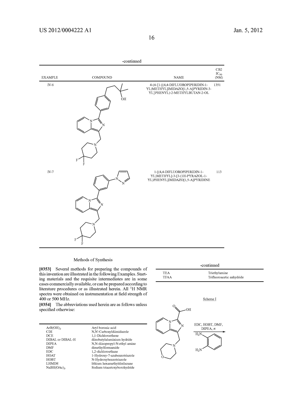 CB2 RECEPTOR LIGANDS FOR THE TREATMENT OF PAIN - diagram, schematic, and image 17