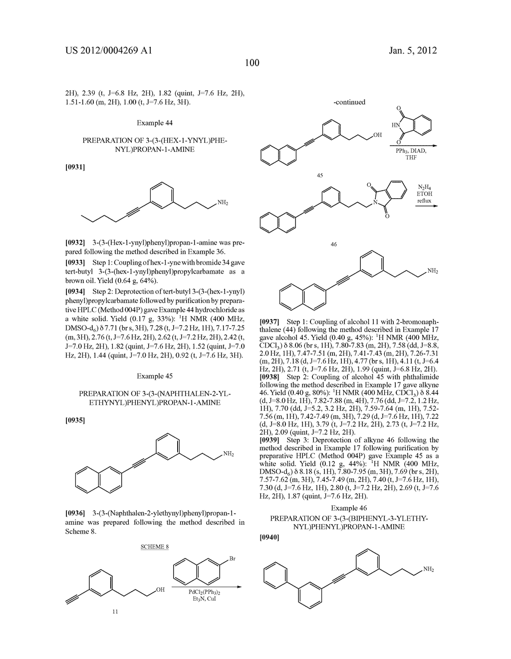 Alkynyl Phenyl Derivative Compounds for Treating Ophthalmic Diseases and     Disorders - diagram, schematic, and image 115