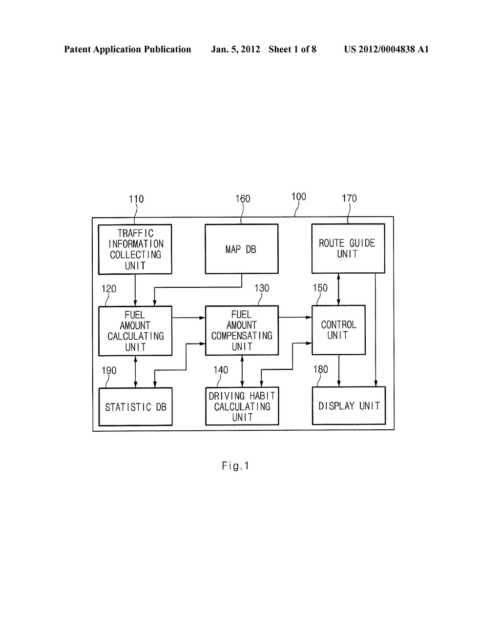 SYSTEM FOR CALCULATING FUEL AMOUNT OF TRAVELLING ROUTE AND METHOD THEREOF - diagram, schematic, and image 02