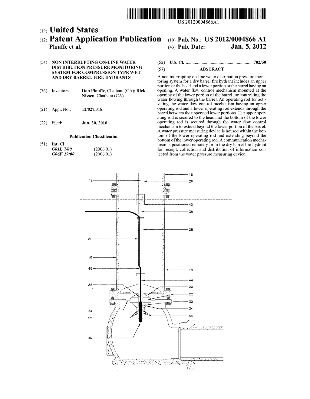 Non interrupting on line water distribution pressure monitoring non interrupting on line water distribution pressure monitoring system for compression type wet and dry barrel fire hydrants diagram schematic and image pooptronica