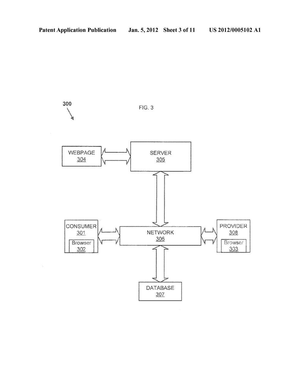 Method and System for Anonymous Communication Between A Consumer and     Provider - diagram, schematic, and image 04