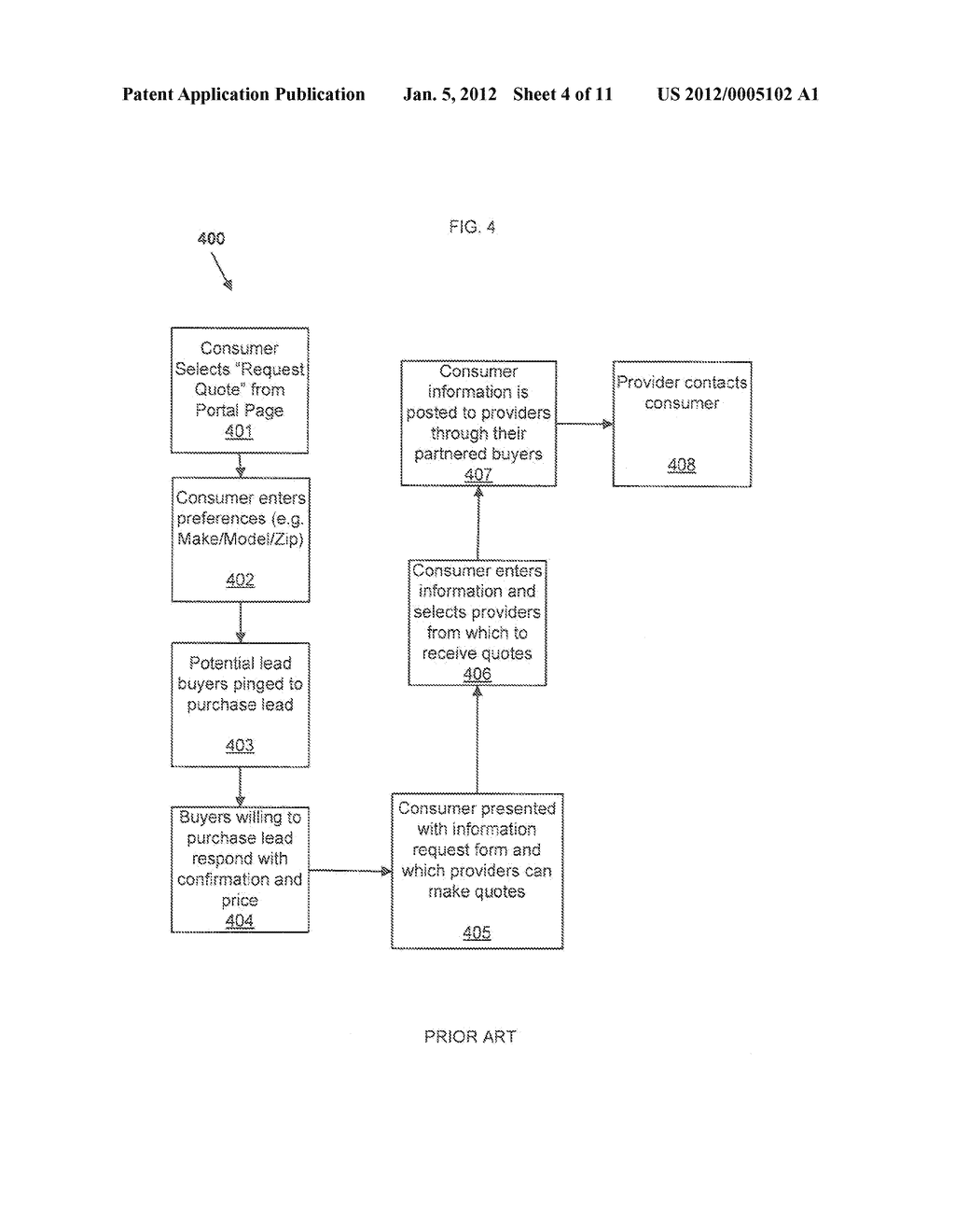 Method and System for Anonymous Communication Between A Consumer and     Provider - diagram, schematic, and image 05