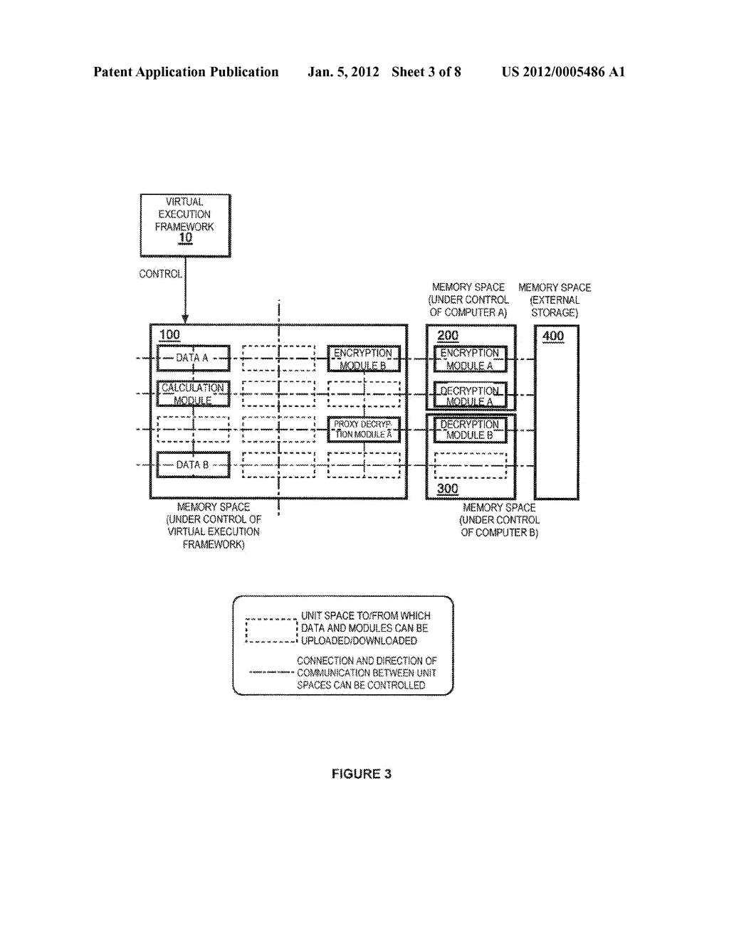 METHOD OF PROCESSING DATA TO ENABLE EXTERNAL STORAGE THEREOF WITH     MINIMIZED RISK OF INFORMATION LEAKAGE - diagram, schematic, and image 04