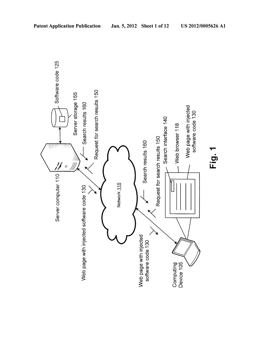 METHOD AND SYSTEM FOR PERFORMING A WEB SEARCH VIA A CLIENT-SIDE MODULE - diagram, schematic, and image 02