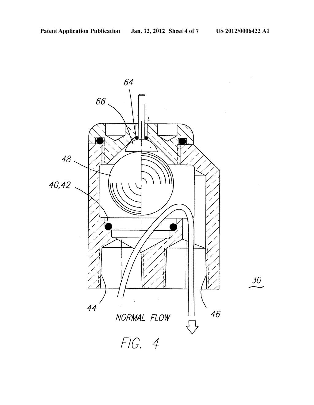 Anti-backflow vacuum breaker valve - diagram, schematic, and image