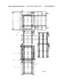 Apparatus for Vertically Aligning and Accumulating Stacks of Pallets     Delivered to a Pallet Dispenser diagram and image