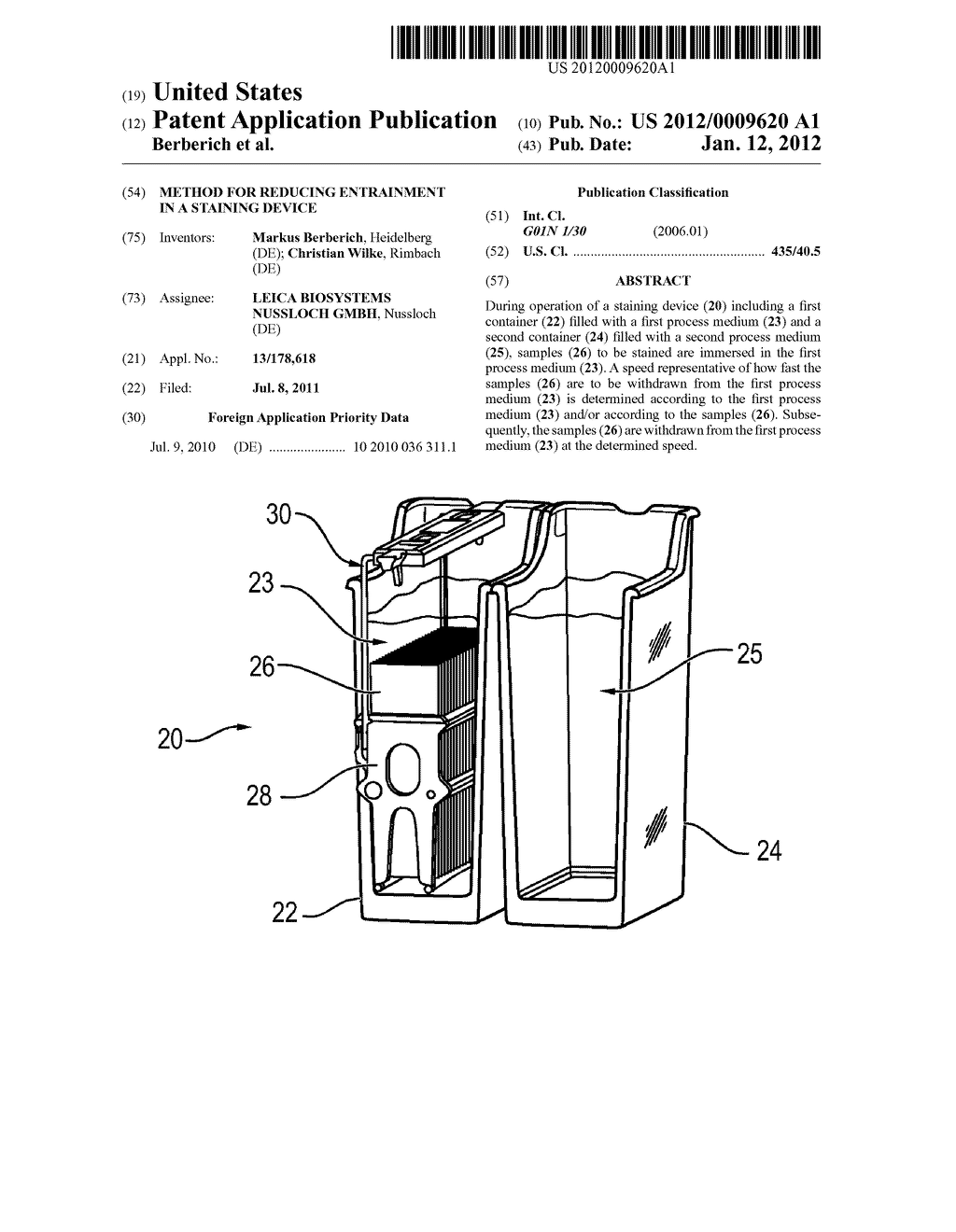 Method for Reducing Entrainment in a Staining Device - diagram, schematic, and image 01