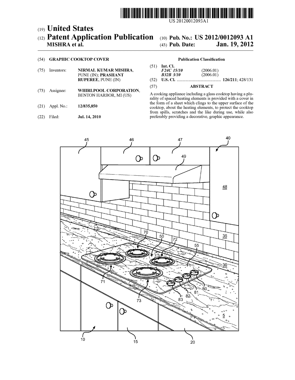 GRAPHIC COOKTOP COVER - diagram, schematic, and image 01