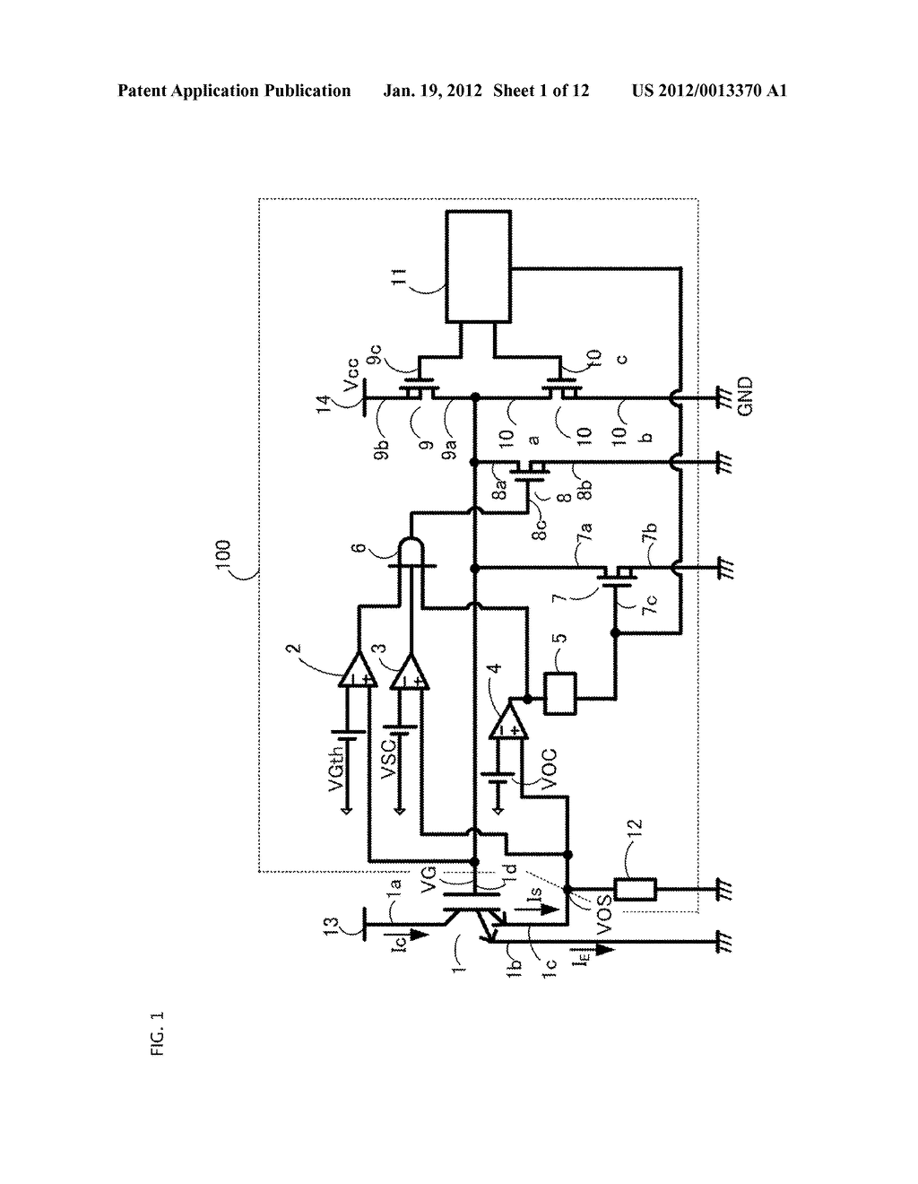 GATE DRIVING CIRCUIT FOR POWER SEMICONDUCTOR ELEMENT - diagram, schematic, and image 02