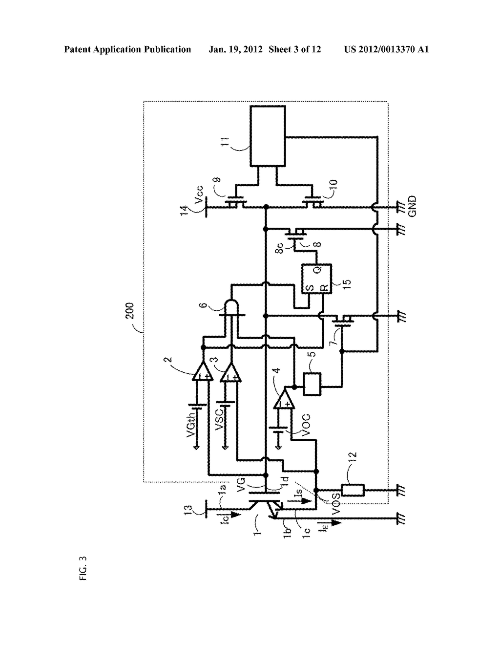 GATE DRIVING CIRCUIT FOR POWER SEMICONDUCTOR ELEMENT - diagram, schematic, and image 04