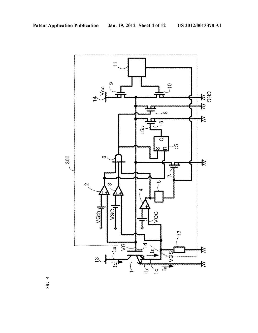GATE DRIVING CIRCUIT FOR POWER SEMICONDUCTOR ELEMENT - diagram, schematic, and image 05