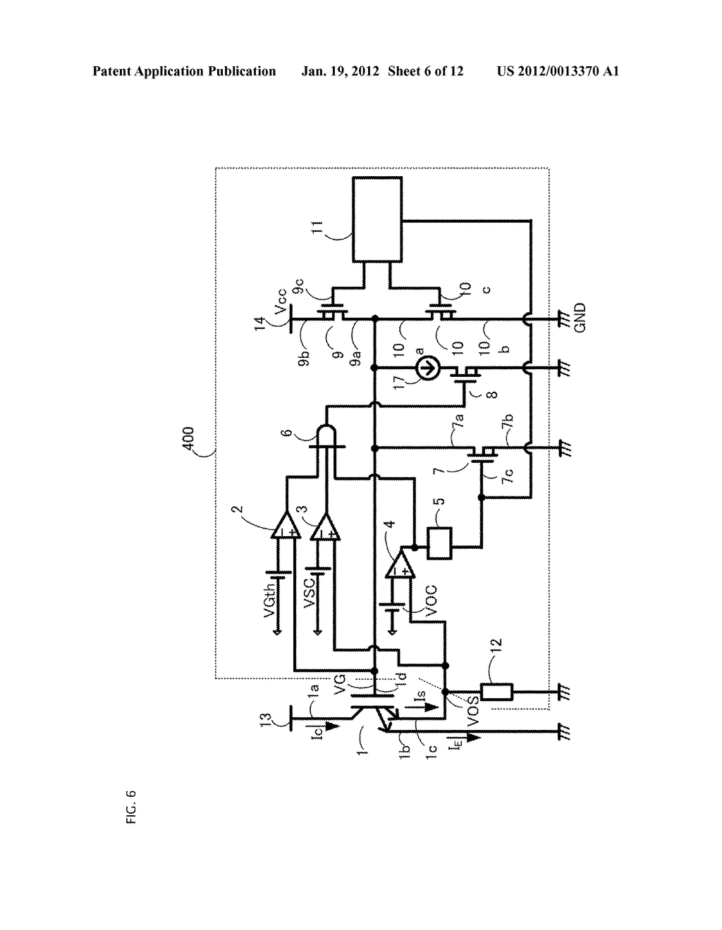 GATE DRIVING CIRCUIT FOR POWER SEMICONDUCTOR ELEMENT - diagram, schematic, and image 07