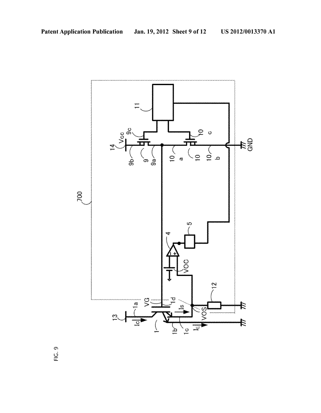 GATE DRIVING CIRCUIT FOR POWER SEMICONDUCTOR ELEMENT - diagram, schematic, and image 10