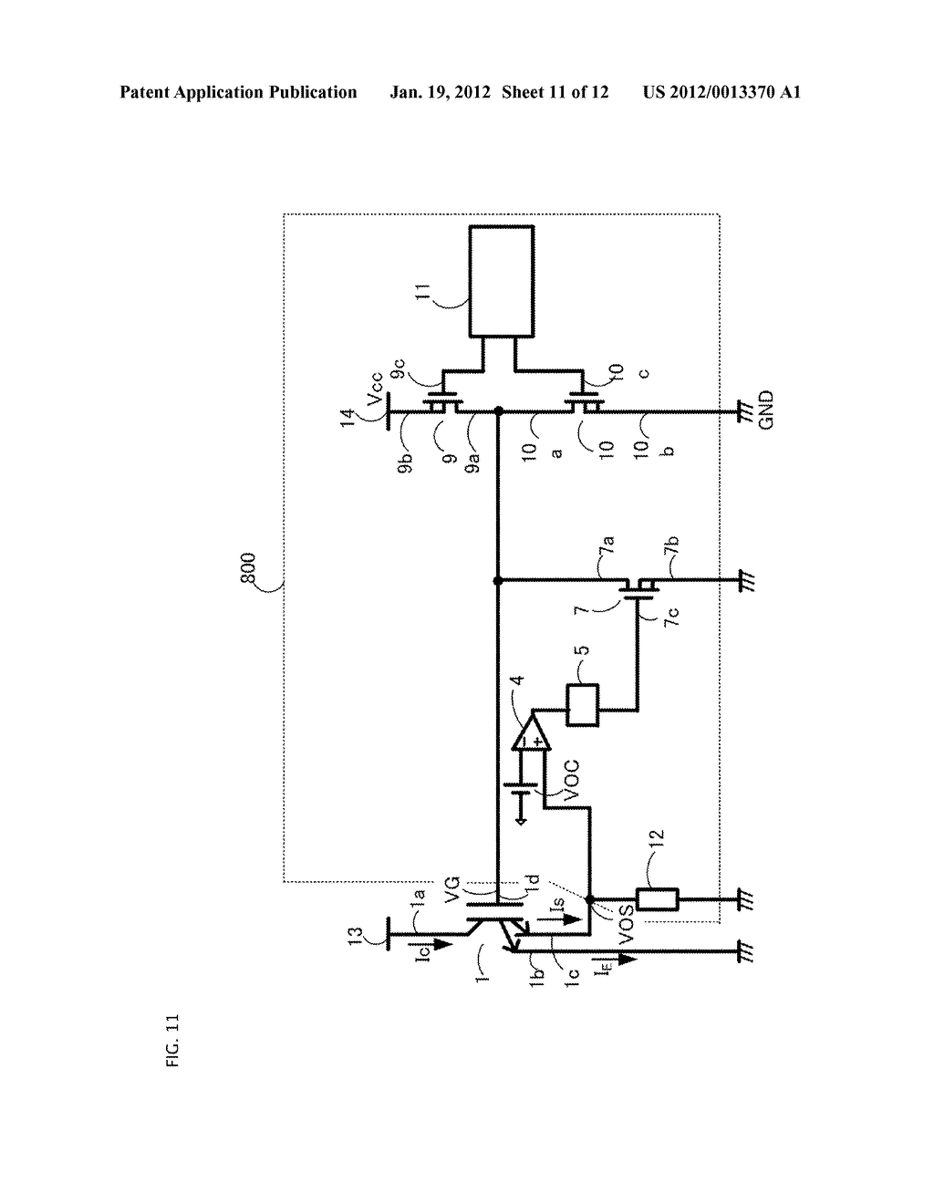 GATE DRIVING CIRCUIT FOR POWER SEMICONDUCTOR ELEMENT - diagram, schematic, and image 12